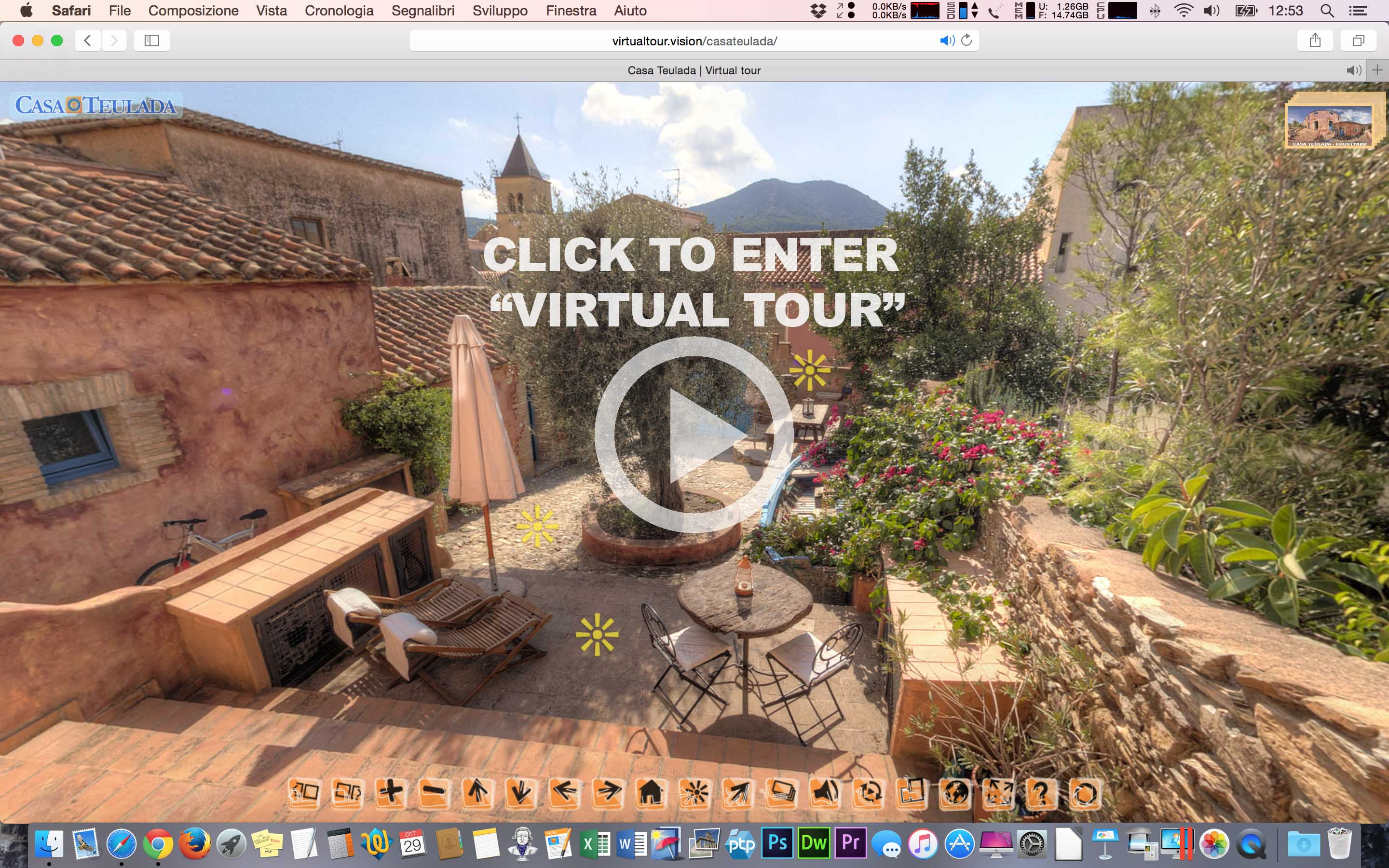 "Click to enter ""Virtual Tour"""